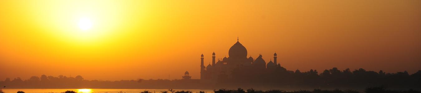 Taj Mahal im Sonnenlicht