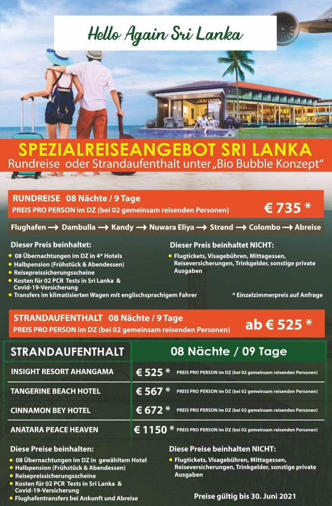 Spezialreiseangebot Sri Lanka
